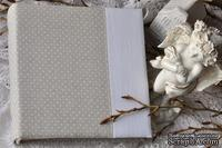 Альбом от Светланы Ковтун в класс. переплете с ткан. покрытием, лен комбинир. верт. серый гор. и белый, 20х20 см, 5 разворотов, расст. 7 мм