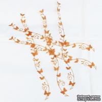 Бордюры из крафт бумаги - Бабочки с завитками, 5 шт.