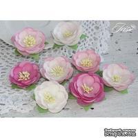 Набор цветов TM Iris - Dessert оттенки розового, 35-45 мм, 8 шт - ScrapUA.com