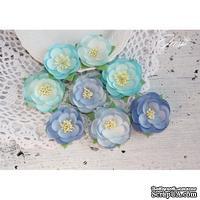 Набор цветов TM Iris - Dessert оттенки синего, 35-45 мм, 8 шт