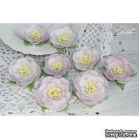Набор цветов TM Iris - Dessert Нежная сирень, цвет светло-сиреневый, 35-45 мм, 8 шт