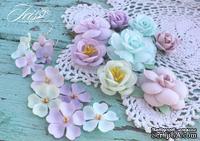 Набор цветов Veil Весенняя пастель, ТМ Iris, 18 шт - ScrapUA.com