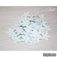 Набор цветов TM Iris - Little flowers светло-голубые, 15 мм, 30 шт