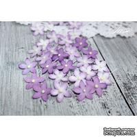 Набор цветов TM Iris - Little flowers фиолетовые, 15 мм, 30 шт