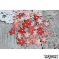 Набор цветов TM Iris - Little flowers красный, 15 мм, 30 шт