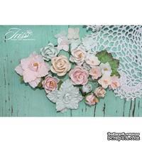 Набор цветов TM Iris - Lady Rosemary Мята и персик, 20 шт