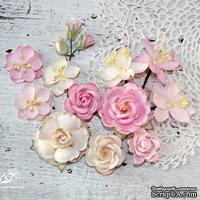Набор цветов TM Iris - Mystery Dream Беж+розовый, 14 шт