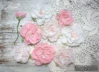 Набор цветов Royalty flowers Розовый микс, ТМ Iris, 9 шт - ScrapUA.com
