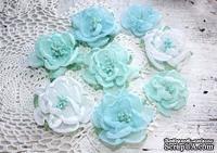 Набор цветов Royalty flowers Голубой микс, ТМ Iris, 8 шт - ScrapUA.com