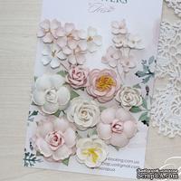 Набор цветов TM Iris - Veil Розовая пудра, 20-45 мм, 18 шт
