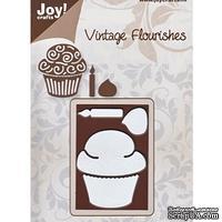 Лезвие Joy! Craft Dies - Vintage - Cupcake & Candle MD - Пироженое со свечой