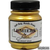 Акриловая краска Jacquard® Lumiere® Metallic Acrylic Paint - Bright Gold - 70 мл, цвет золотой яркий