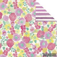 Лист скрапбумаги My Mind's Eye - Jubilee Shepbet - Happy Lovely, 30х30 см, двусторонняя