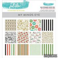 Набор двусторонней скрапбумаги My Mind's Eye - Jubilee Mint Julep - Pad, 15х15 см, 24 листа