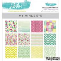 Набор двусторонней скрапбумаги My Mind's Eye - Jubilee Shepbet - Pad, 15х15 см, 24 листа