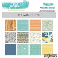 Набор двусторонней скрапбумаги My Mind's Eye - Jubilee Tangerine - Pad, 15х15 см, 24 листа - ScrapUA.com