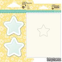 Набор для шейкера JBS - Star - Звезда - окошко-заготовка, открытка, конверт - 1 штука