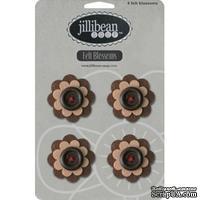 Набор цветов из фетра Jillibean Soup - Felt Blossoms - Brown