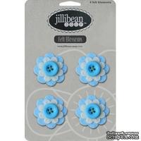 Набор цветов из фетра Jillibean Soup - Felt Blossoms - Blue