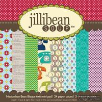 Набор скрапбумаги Jillibean Soup - Neopolitan Bean Bisque, размер 15х15 см, 24 листа