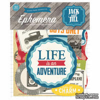 Высечки от Echo Park - Jack & Jill Boy Ephemera Pack, 33 шт - ScrapUA.com