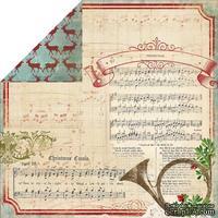 Лист скрапбумаги My Mind's Eye - Joyous - Carols, 30х30 см, двусторонняя