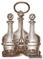 Акриловый штамп K007 Бутылочки с подставкой, размер 3,3 * 4,6 см