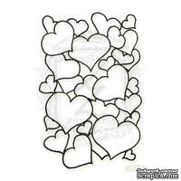 Акриловый штамп Lesia Zgharda K024 Сердечки, размер 3.4х5.2 см