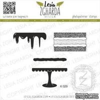 Набор акриловых штампов Lesia Zgharda Тортик K029, 4 шт