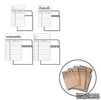 Набор конвертов с библиотечными карточками для журналинга от Maya Road - Library Cards w/Envelopes, 4 шт.