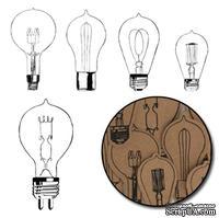 Набор высечек от Maya Road -  Kraft Eureka Light Bulbs - Black
