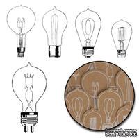 Набор высечек от Maya Road -  Kraft Eureka Light Bulbs - White