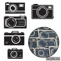 Набор высечек от Maya Road -  Kraft Picture Perfect Cameras - Black