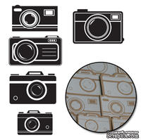 Набор высечек от Maya Road -  Kraft Picture Perfect Cameras - White