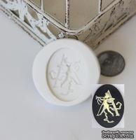"Силиконовая форма (молд) - Камея с буквой ""А"", размер: 29.9х40 мм"