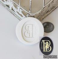 """Силиконовая форма (молд) - Камея с буквой """"В"""", размер: 29.9х40 мм"""