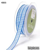 Лента SOLID/CHECK, ширина 9,5 мм, цвет ROYAL BLUE, 90 см
