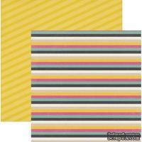Лист скрапбумаги My Mind's Eye Stripes, 30х30 см, двусторонняя