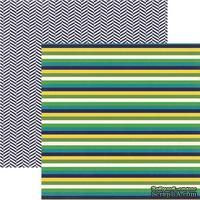 Лист скрапбумаги My Mind's Eye Multi Stripe, 30х30 см, двусторонняя
