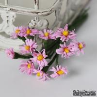 Хризантемы, розовые, цветочек 15 мм, стебелек 10 см, 12 шт.