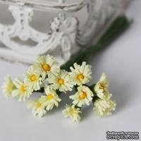 Хризантемы, желтые, цветочек 15 мм, стебелек 10 см, 12 шт.