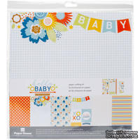 Набор скрапбумаги от Paper House - Paper Crafting Kit - Hello Baby Boy, 30 x 30 см