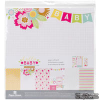 Набор скрапбумаги от Paper House - Paper House Paper Crafting Kit - Hello Baby Girl, 30 x 30 см