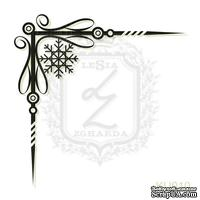 Акриловый штамп Lesia Zgharda Уголок KU010, размер 4,3х4,3 см