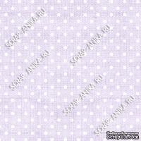 Скрапбумага для форзацев Коллекция 10_3, Горошки на сиреневом, односторонняя, 20х29 см