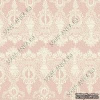 Скрапбумага для форзацев Коллекция 10_4, Кружево на розовом, односторонняя, 20х29 см - ScrapUA.com