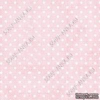 Скрапбумага для форзацев Коллекция 12_02., Горошки на нежно-розовом, односторонняя, 20х29 см