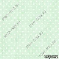 Скрапбумага для форзацев Коллекция 12_06., Горошки на нежно-салатовом, односторонняя, 20х29 см