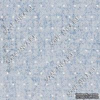 Скрапбумага для форзацев Коллекция 13_08., Горошки на серо-голубом, односторонняя, 20х29 см