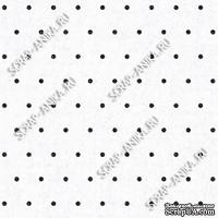 Скрапбумага для форзацев Коллекция 13_11., Горошки на белом, односторонняя, 20х29 см